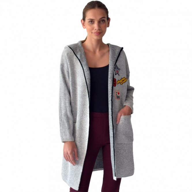 Sueter Mujer Abierto Largo Gorro Abrigo Dama Rack & Pack