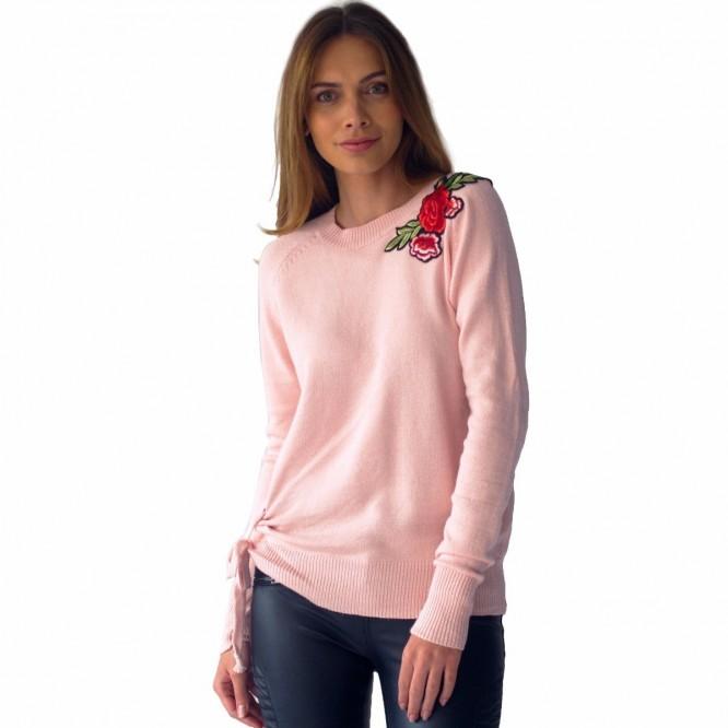 Suéter Mujer Detalle Flores Bordadas Rack & Pack