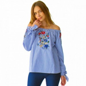 Comprar Blusa Dama Rayas Con Resorte En Hombros Rack & Pack