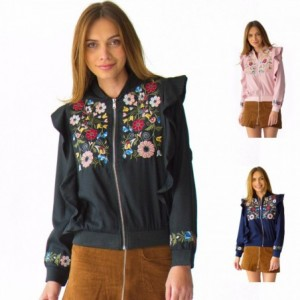 Comprar Chamarra Mujer Bomber Jacket Olanes Y Flores Rack & Pack