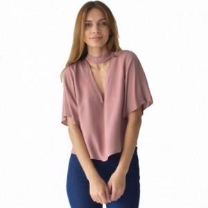 Comprar Blusa Mujer Tipo Choker Con Escote Al Frente Rack & Pack