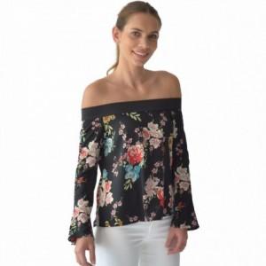 Comprar Blusa Mujer Flores Moderna Resorte En Hombros Rack & Pack
