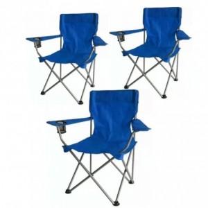 Comprar 3 Sillas Plegables Playa Alberca Camping Pesca Aire Libre