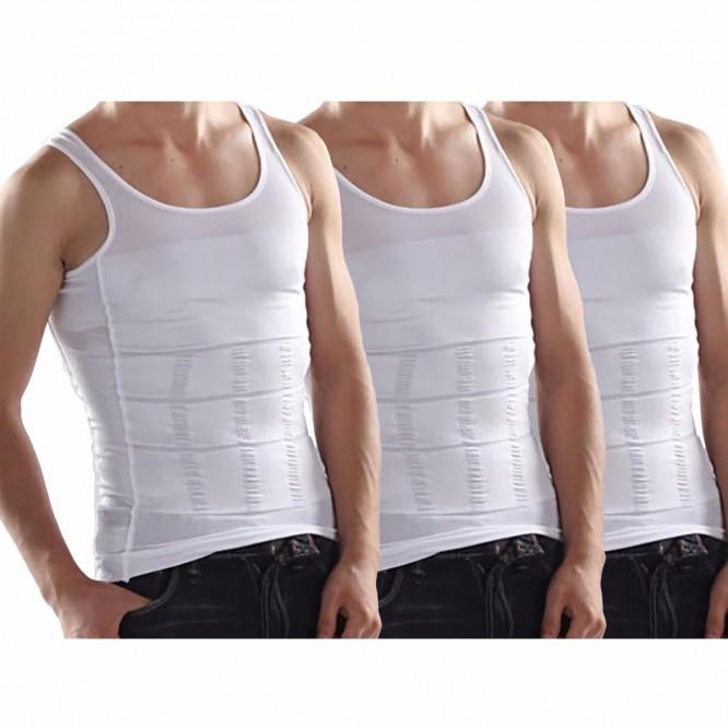 Camiseta Modeladora Paquete 3 Faja Hombre Compresion Moldea