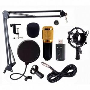 Comprar Kit Microfono Condensador Bm800 Tarjeta Usb Youtuber Negro