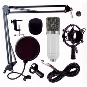 Comprar Kit Microfono Condensador Bm700 Youtuber Blanco