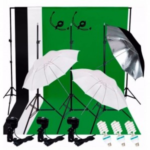 Comprar Kit Estudio Fotografico Luz Fondos Sombrillas Fotografia Set