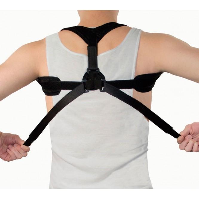 Chaleco Corrector Postura Autoajustable Hombro Unisex Negro