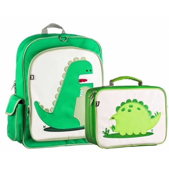 Kit Mochila Escolar y Lonchera Premium Beatrix Dinosaurio