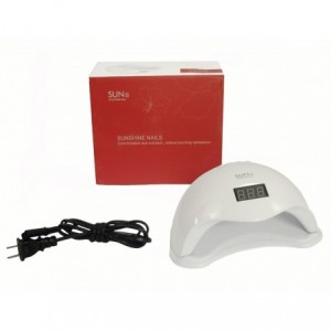 Lampara Uñas Uv Profesional Digital Gelish Secado Uñas Spa 48 Watts Led imagen secundaria