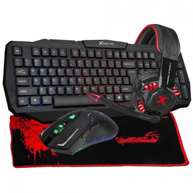 Kit Teclado Mouse Gamer  Pc Xtrike Me  Pad /headset