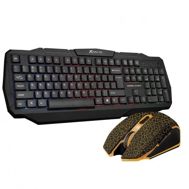 Kit Teclado Membrana Gamer Mouse Optico Pc Xtrike Me