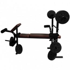 Set de Barra con Banco para Pesas Centurfit Ejercicio Discos 10lbs Barra Recta Gym imagen secundaria