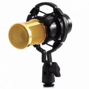 Set Microfono Condensador Usb Youtuber Tarjeta Negro imagen secundaria