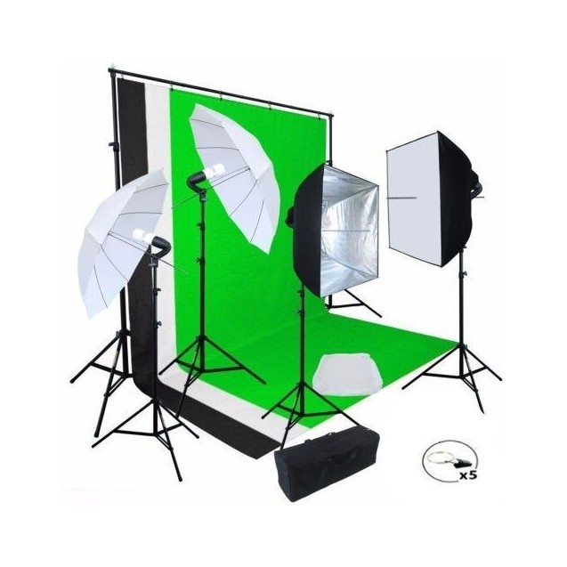 Kit Fotografico Estudio Profesional Fotografia Set Softbox