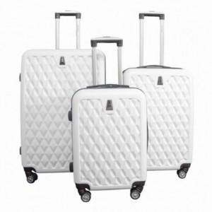 Comprar Maletas Set Kit 3 Rigidas Viaje Vacaciones Maleta Blanco
