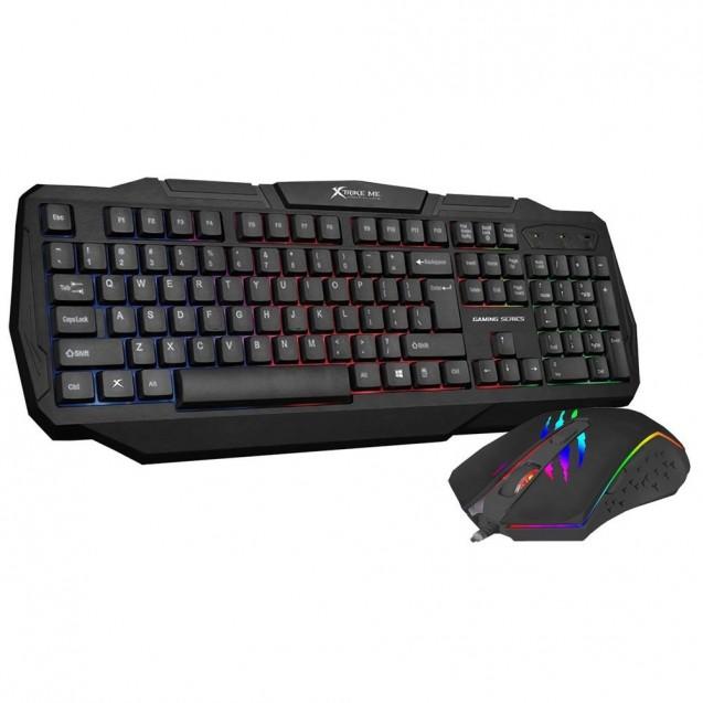 Kit Gamer Pc Teclado Membrana+ Mouse Optico Xtrike Me