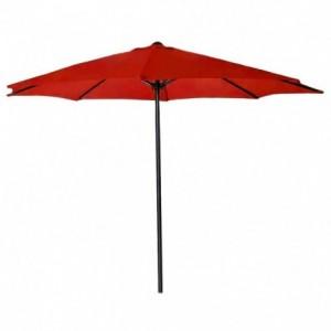Comprar Sombrilla Jardin  Exterior Sol Playa Angulo 3m Diametro Rojo