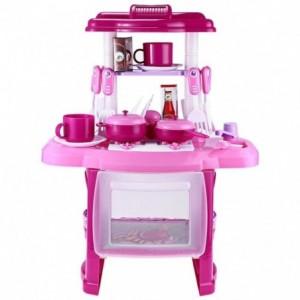 Cocina Infantil Niña Electronico Sonido Luz Accesorios Rosa imagen secundaria