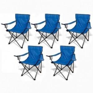 Comprar 5 Sillas Plegables Playa Alberca Camping Pesca Jardin