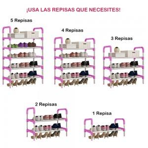Zapatera Práctica 15 Pares Armable 5 Organizador Rosa imagen secundaria