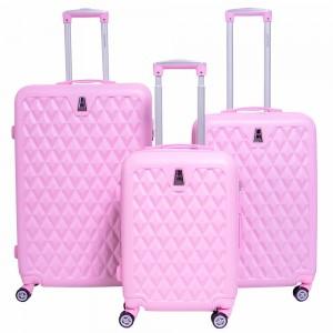 Comprar Set 3 Maletas Rigidas Viaje Maleta Rosa Maletin Mujer