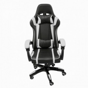 Silla Gamer Audiotek Gaming Blanca Pc Ergonomica Reclinable