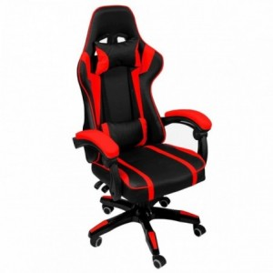 Silla Gamer Audiotek Gaming Roja  Consola Pc Ergonomica Reclinable imagen secundaria