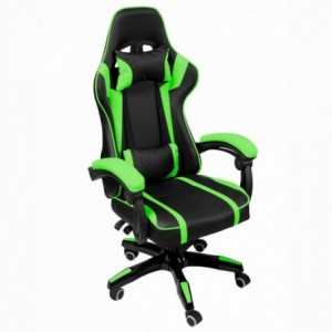 Silla Gamer Gaming Consola Pc Ergonomica Reclinable Verde imagen secundaria
