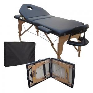 Cama Masaje Spa Reclinable Portatil Profesional Mesa Negro imagen secundaria