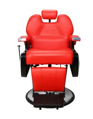 Sillon Barberia Bioconfort Estilista Peluqueria Estetica Rudo Barbero Rojo imagen secundaria