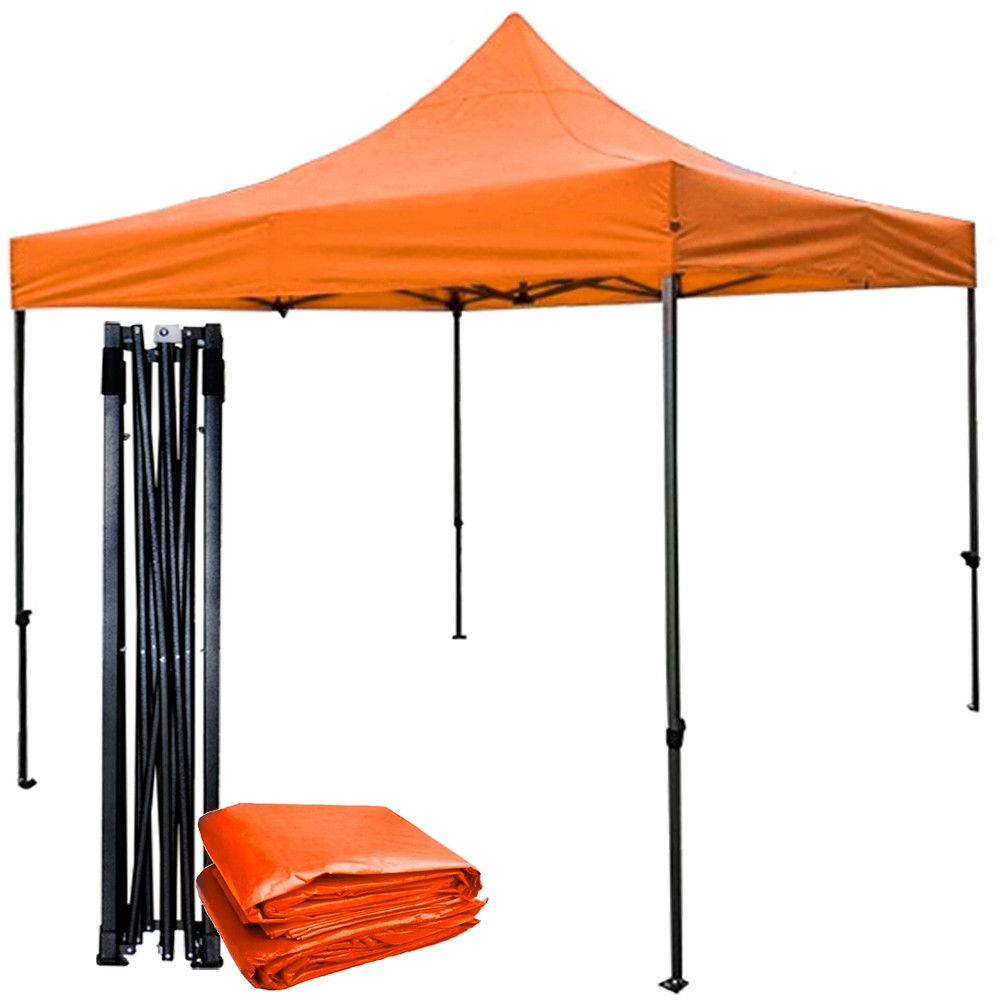 Carpa Toldo 3x3 Anaranjada Jardin Plegable Evento