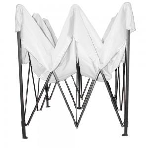 Carpa Toldo 3x3 Plegable Reforzado Blanco Impermeable Jardin imagen secundaria