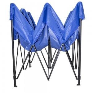 Carpa Toldo 3x3 Reforzado Azul Plegable Impermeable Jardin imagen secundaria