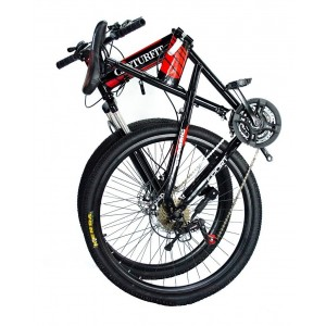 Bicicleta Plegable Montaña Roja R26 21 Vl Centurfit Disco imagen secundaria