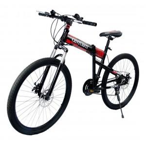 Comprar Bicicleta Plegable Montaña Roja R26 21 Vl Centurfit Freno Disco