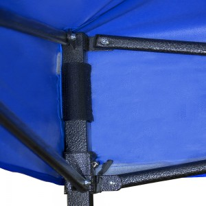 Carpa Toldo 3x4.5 Reforzado Plegable Impermeable Jardin Azul imagen secundaria
