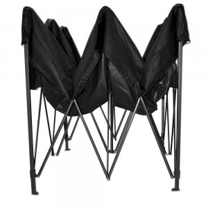 Carpa Toldo 3X 3m Plegable Negra Impermeable Jardin Casa imagen secundaria