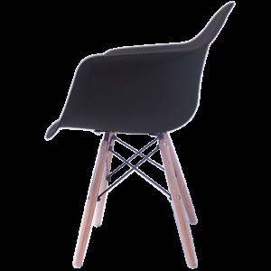 Sillas Eames Minimalista Brazos Negra imagen secundaria