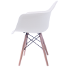 Sillas Eames Minimalista Brazos Blanca