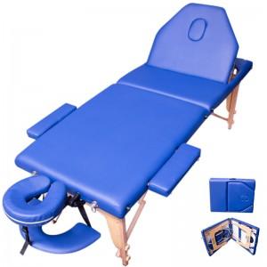 Comprar Cama Masaje Spa Reclinable Estuche Portatil Profesional Azul