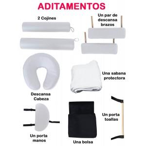 Cama Masaje Portatil Profesional Accesorios Blanca imagen secundaria