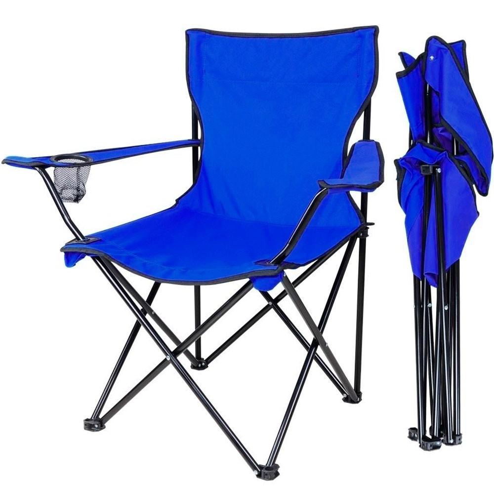 Silla Plegable Camping Porta Vaso Jardin Playa Alberca Azul