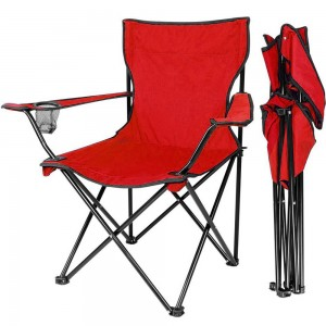 Silla Plegable Camping Porta Vaso Jardin Playa Alberca Roja