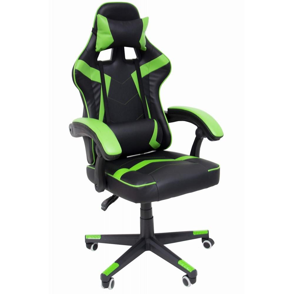Silla Gamer Gaming Consola Pc Ergonomica Reclinable Verde