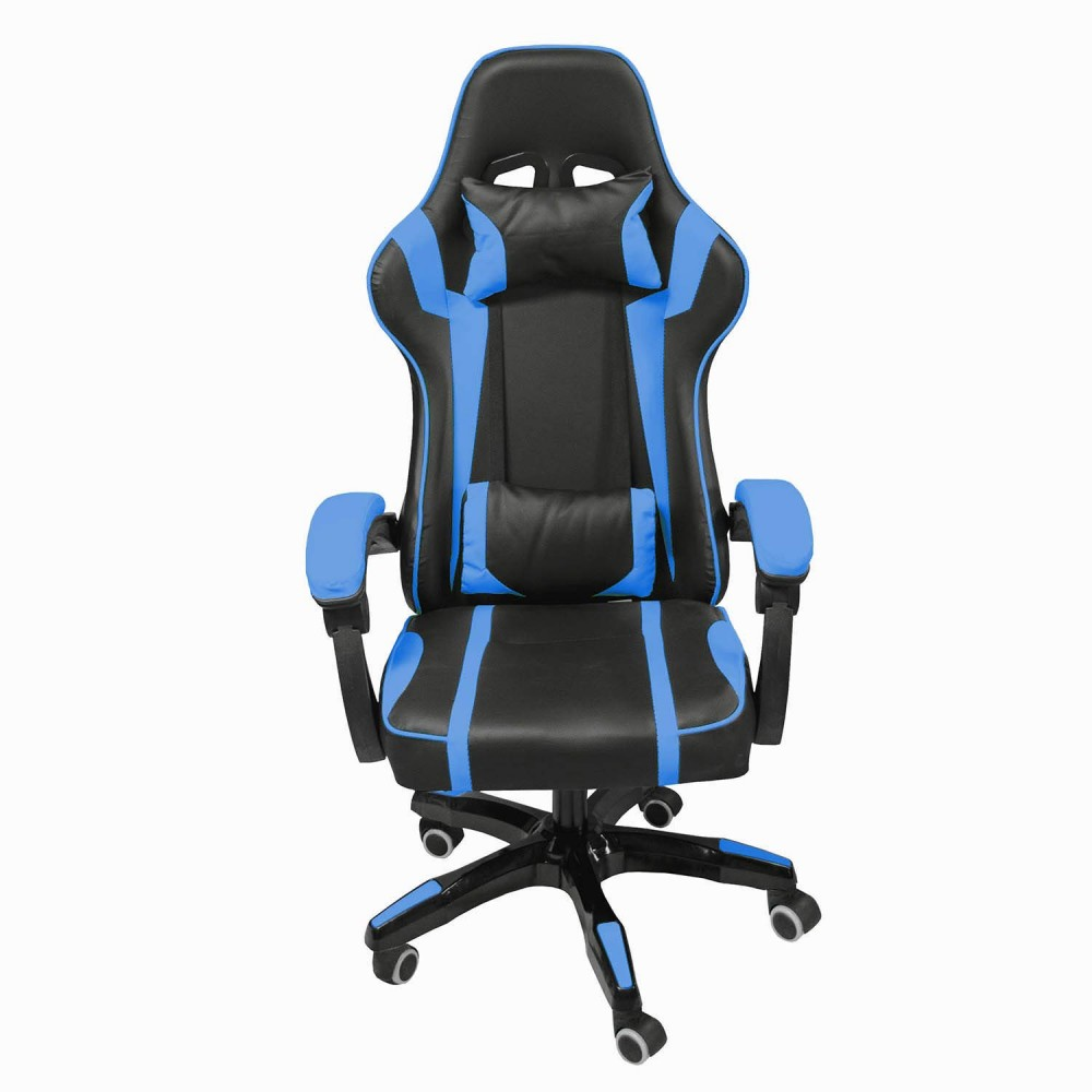 Silla Gamer Audiotek Gaming Azul Pc Ergonomica Reclinable
