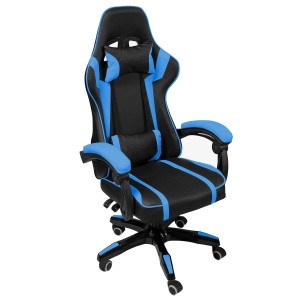 Silla Gamer Audiotek Gaming Azul Pc Ergonomica Reclinable imagen secundaria