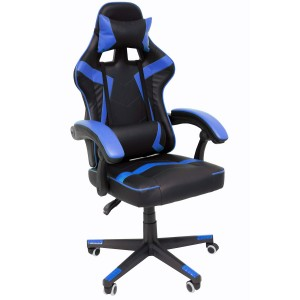 Comprar Silla Gamer Audiotek Gaming Azul Ergonomica Reclinable
