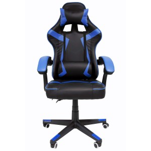 Silla Gamer Audiotek Gaming Azul Ergonomica Reclinable imagen secundaria