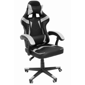 Comprar Silla Gamer Audiotek Gaming Blanca Consola Pc Ergonomica Reclinable